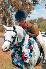 The super cute combination of Bronte Raymont and  Nawarrah Park Belladonna were the winners of the small hunter pony
