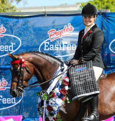 Vanity rose and Kirsty Harper Purcell winning the small galloway hack
