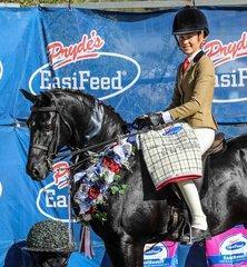 Winner of the childs small hunter galloway Clemson Tuxedo ridden by Clare Fedrick