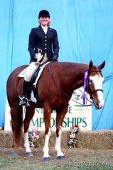 Amateur English Equitation champions, Simone Robinson & Natans Lucky Trail.