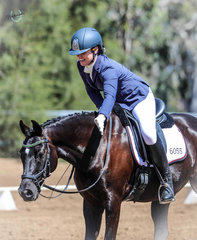 A very happy rider, Chelsea Gatti, with Coolinda Park Jackson in the Novice class.