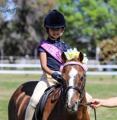 Alicia Balen riding Riegal Candyman winning Champion Leading Rein Rider