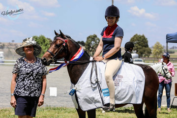 Supreme Pony Lily ridden by Jayne Shatte Sponsored by Emma Barkla of Horseland Toowoomba and RB Sellars