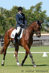 Gillian Jan rode Wilkinson to score 60.60% for third place in the 2.4 Associate Senior Teat.