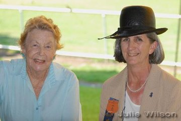 Jan Smith (right) was very pleased to catch up with life long friend Nita McAuley, who was a member of the Australian Dressage team in 1976 and 1980. No longer involved with the equestrian world, Nita now paints, winning the landscape section at this years' Darwin Royal, and plays the violin.