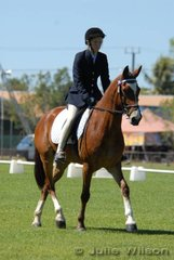 Justine Burgess rode Rush Hour in the Assoc. Inter. Preliminary to score 53.7%.