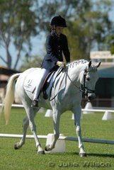Ashlee Upton rode Jexy in the Junior Assoc. Prelim. to score 57.2 % and place second.