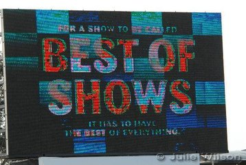 """The new slogan of the 2006 Royal Melbourne Show, """"The Best of Shows"""". It may be for some but will certainly not be for most of the equestrian competitors."""