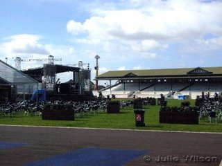 This is the old arena as horse competitors will remember. It is now called the Town Square where there is live entertainment and food stands along with table and chairs. Not a horse in sight.