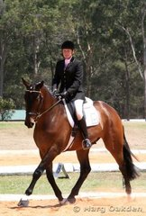 Cheryl Williams & Kings Legend during their performance in the Preliminary 1.2 Division B.
