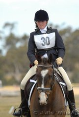 Lucinda James rode ESB Irish Denial in the Red Rock Lodge CNC*.