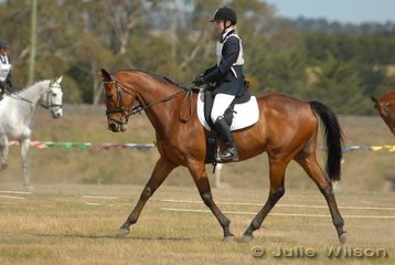 Nicole Ferguson rode Sweet Kahan in the Aitac Pre-Novice section 1 to finish in fourth place.