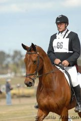 Bob Powels rode Northern Cam Cree  in the Aitac Pre-Novice section 1.