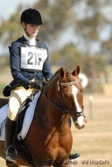 Jessica Goldhahn rode Owendale Rory in the Preliminary Section 3 to finish on their dressage score in sixth place.