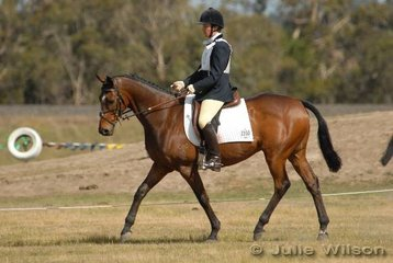 Claire McDonald riding Royal Host  in the Aitac Pre-Novice Section 2.