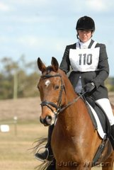 Fiona Williams riding Kierney  in the Aitac Pre-Novice Section 2.