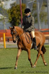 Tamara Smith works out with her 'Alinda Park Make A Wish' in the Show Hunter Galloway 14-14.2hh class.