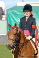 Madeleine Way was second in the Novice Rider 12 Years and Under and was awarded the Tuskin Family Encouragement Award.