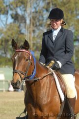 Olivia Hunt from Bellbrae took out the District Pleasure Hack class with her 'Bella'.