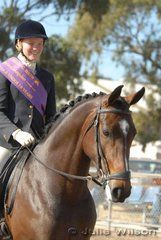 Tayla O'Dea from Geelong was declared Reserve Champion District Rider 14-18 Years.