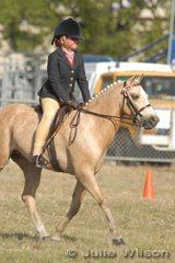 Jamie Harding from Bacchus Marsh won the District Girl Rider 7-10 Years.