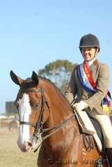 Rebecca Ross from Ocena Grove rode her delightful five-year-old Clydesdale/Thoroughbred, 'Jolie Cheval' to take out the Senior District Rider Championship.