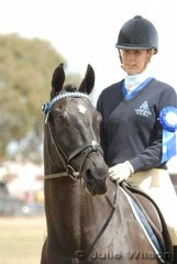 Sarah Castricum and her Reserve Champion District Hack, 'J'Adore' strike a pose. Sarah from the Gisborne and District Riding Club also won the class for Pony Club/Riding Club Riders 18 Years and Over.