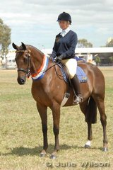 Rebecca Jones from Ballan took out the Champion Pony Club/Riding Club Mount award as well as winning the District Led Hack with her 'Torbee Park Regal Springs'