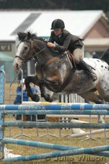 Pip Wootten and 'Spotted Gum' during their round in the C & D Grade AM5.