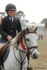 Travis Morgan from Port Arlington was second in the Open Rider Over Obstacles (D & E Grade) with his 'Ritchie'.