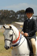 Tyson Filia from Marcus Hill claimed the Best Rider Over Obstacles (D & E Grade) Award aboard his 'Kirby Park Jazzman'.