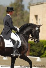 The always busy Heath Ryan rode Dr Margaret Evan's Rubenstein stallion, 'Regardez Moi' to take third place in the Hamilton Island Grand Prix with 64.00%.