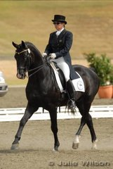 Anne-Maree Lourey with her 'Richmead Medallion' competing in the Hamilton Island Grand Prix.