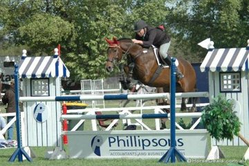 Brad Trewin from Upper Beaconsfield with his super mare, 'Miss Sully' competing in the Saddleworld 1.35m One Round competition.
