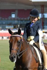 Tahlia Wells from Young was third in the class for Girl Riders 6 - 9 Years.