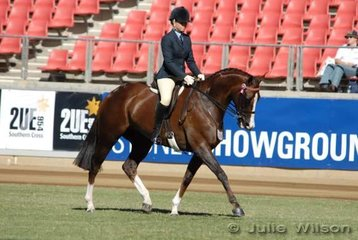 Jess Barton from Warnambool in Victoria took second place in the Novice 16-16.2hh class with her 'Face Up To It'.