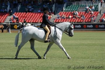 Phillipa Kallus-Lawson and partner put their best foot forward during their workout in the class for Girl Riders 9-12 Years.