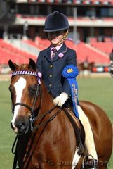Rachael Lynch from Cowra got the show off to a good start by winning the Girl Rider 6-9 Years class.