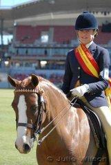 Jodi-Maree Maytom from Stroud in NSW was declared Reserve Champion Girl Rider Under 12 Years.