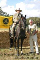 Adrianne Bowden was delighted when she was presented the Glen Fletcher Memorial Award Sportsmanship Trophy by Peter Fletcher