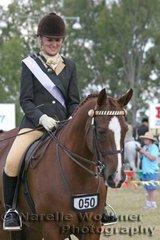 Champion Derivative Arabian Amateur Rider Vanessa Lyall riding 'Mustang Lodge Rememberance'