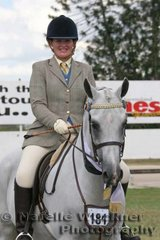 Champion Intermediate Purebred Arabian Under Saddle 'Palmgold Desert Flyte' ridden by Shannon Parry & owned by the Deipenheim Family
