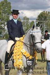 Winner of the Pan For Gold Event 'Stapylton Park D'Alliance' ridden by Veronica Mortimer & owned by Gail Webster