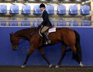 Winderadeen Kay F Cee ridden by Brianna Simmons were State Champions in Senior Youth Hunter Under Saddle