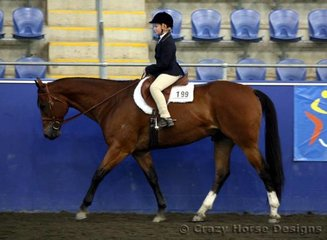 6th place in Junior Youth Hunter Under Saddle was India Hutchinson riding Sharadam St Nicolas