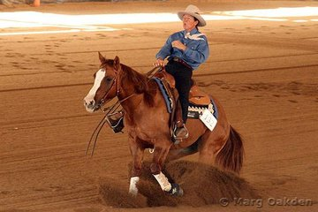 Savannah Storm & Heather Lee were competitors in the Novice Horse Non-Pro Reining.