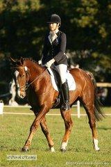 "Bianca Craddock riding ""Saddle Up Valentine"" in the CNC* Dressage"