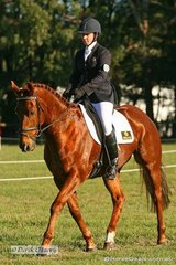 """Ebony Tucker in the Pre Novice dressage phase riding """"Marck of Luck"""""""