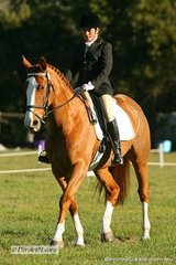 """Sam Whiting riding """"Sovereign Rose"""" in the CNC* Dressage Phase."""