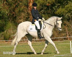 """Tayla O'Dea in the Preliminary Setion 1 dressage phase riding """"Me & Jack"""". Tayla placed 6th in a very big field at the completion of all phases."""